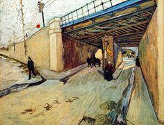 Vincent Van Gogh - Post Impressionism - Arles - Le pont de chemin de fer - Octobre 1888