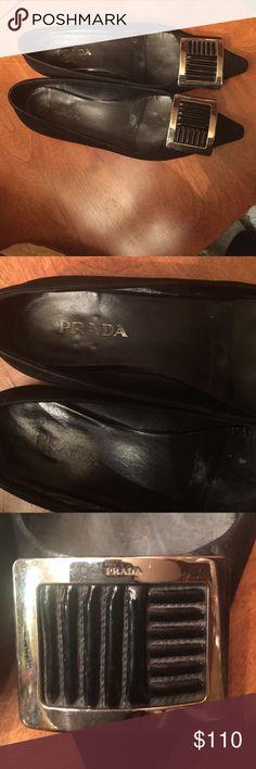 Prada shoes cheap size 7 1/2 black flats Prada shoes size 7 1/2 cheap black flats Prada Shoes Flats & Loafers
