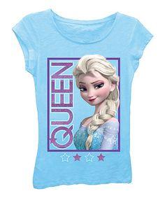 Another great find on #zulily! Turquoise Frozen 'Queen' Tee - Girls #zulilyfinds
