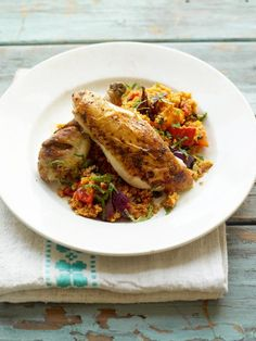 roast chicken with couscous | Jamie Oliver