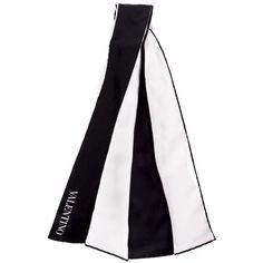 Sciarpa seta avorio e nera Valentino Garavani ($220) ❤ liked on Polyvore featuring accessories, dlr and scarves