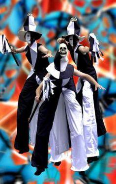 carnival mardi gras stilt