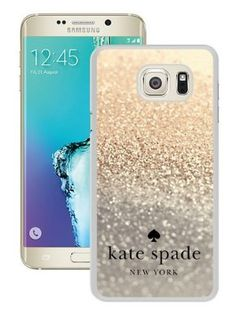 Genuine Kate S6 Edge Plus Case,Kate Spade 85 White Samsung Galaxy S6 Edge Plus Screen Phone Case Grace and Sweet Design