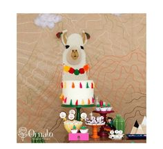 look at this amazing llama cake! - See more llama party love on B. Lovely Events