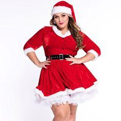 Amazon.com: Kissria Women Sexy Lingerie Red Miss Santa Claus Christmas Xmas Fancy Dress Plus Size: Clothing
