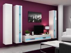 #wohnzimmer Wohnwand In Weiß Hochglanz U2013 Der Allrounder Im Wohnbereich  #Wohnwand #in #