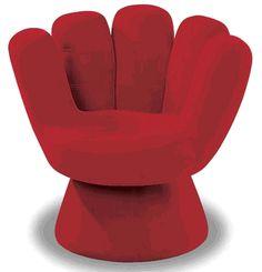 A Mitt chair.  (Baseball mitt--not Romney) In my woman cave :-)