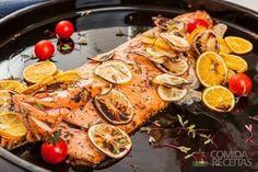 Receita de Salmão ao molho de limão siciliano em receitas de peixes, veja essa e outras receitas aqui!