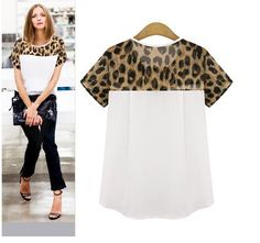 New Fashion Chiffon Blouse Women Blouses Leopard Print Shirt Women Tops Ladies Plus Size Blusa Roupas Camisas Blusas Femininas Style Casual, Casual Tops, Casual Outfits, Casual Shirts, Casual Wear, Shirt Blouses, T Shirt, Chiffon Blouses, Chiffon Shirt