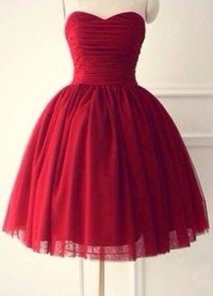 Knee Length Burgundy Prom Dress Homecoming Dress
