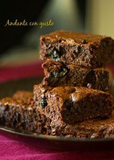 Andante con gusto: Brownies al cocco e amarena: una volta c'erano le ...