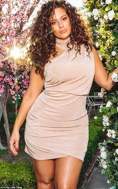 Ashley Graham x PrettyLittleThing – Plus Size Models Big Girl Fashion, Curvy Fashion, Plus Size Fashion, Petite Fashion, Dress Fashion, Shirred Dress, Belted Dress, Bodycon Dress, Ashley Graham