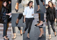 Emmanuelle Alt 2014 | Emmanuelle Alt proves that kitten heel pumps work with so much more ...
