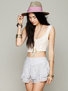 Tiered Eyelet Short- Age of Innocence Collection by FP