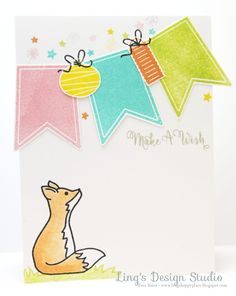 Ling's Design Studio: Make A Wish Fox using Avery Elle To The Point set, Bunting set,  Storybook set, More Storybook set