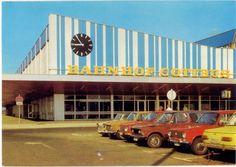 Postcard of Cottbus station, Germany (1985).