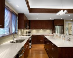 Like The Design, Matches Our Kitchen   Similar Except Switch Colors To  White Cabinets, Dark Granite Tops. BIG Island, Fridge Moved To End   Rip  Out Cabinets ...