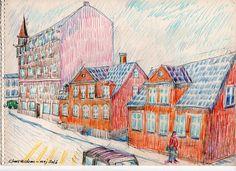 Old Houses - mosedalvej -Copenhagen - Caryons on paper - 2016 -Claus Ib Olsen - (1600×1162)