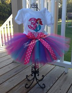 Mermaid tutu birthday outfit - pick your birthday number by TouchdownTutus on…