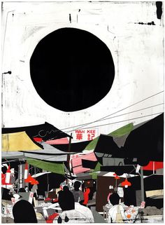 Evan Hecox is a Colorado-based artist whose work captures the essence of urban environments through a unique process that involves careful, first-hand observations of his surroundings and then progresses into drawings and paintings that are striking in their graphic simplicity. via Incase