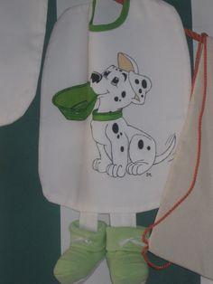 Dálmata Cãozinho Pintura em tecido Pintado à mão  Peint à la main