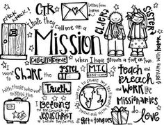 Melonheadz LDS illustrating: freebies missionary coloring page / cool ideas too for mission package ideas to decorate box flaps :) Missionary Quotes, Missionary Mom, Sister Missionaries, Missionary Packages, Lds Quotes, Girl Quotes, Lds Coloring Pages, Coloring Sheets, Kids Coloring