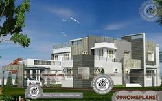 Indian Architecture Design of Small Houses Double Storey Homes Best Small House Designs, Best Modern House Design, Latest House Designs, Architecture Design, Plans Architecture, Indian Architecture, Free House Design, House Arch Design, Small Contemporary House Plans