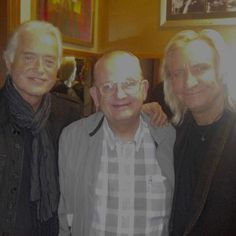 Jimmy Page with the son of Les Paul--also named Les Paul and Joe Walsh.