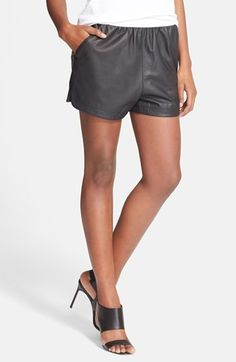 T by Alexander Wang Matte Leather Shorts available at #Nordstrom