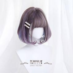 Kawaii Hairstyles, Pretty Hairstyles, Wig Hairstyles, Anime Wigs, Anime Hair, Beautiful Hair Color, Cool Hair Color, Kawaii Wigs, 3 4 Face