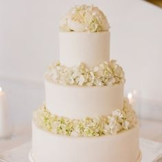 Gorgeous All White Wedding Cakes for every type of event. (photo via SMP)