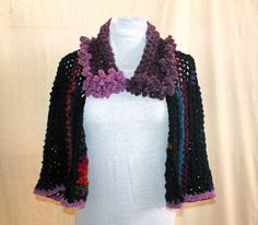 A personal favorite from my Etsy shop https://www.etsy.com/listing/159022896/multi-color-crocheted-shrug