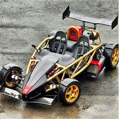 Ariel Atom V8. Reaches 60 mph in less than 2 seconds.