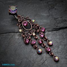 Vintage Copper Burnish Rustica Chandelier Belly Button Ring