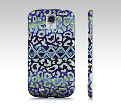TRIBAL LEOPARD in BLUE #Samsung Galaxy S3 S4 Hard #Case by EbiEmporium, $40.00 #tech #device #cover #protective #hardcase #fineart #art #abstract #tribal #aztec #native #print #leopard #animal #pattern #whimsical #ombre #blue #navy #royalblue #geometric #stylish #modern #fun #cool #chic