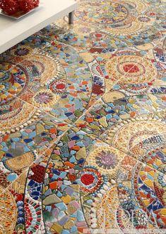 Tile Art, Mosaic Art, Mosaic Glass, Mosaic Tiles, Stained Glass, Mosaic Floors, Art Nouveau Tiles, Floor Ceiling, Mosaic Designs