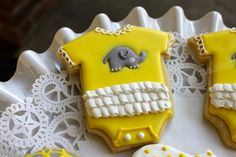 Baby Shower Elephant Onesies. $25.00, via Etsy.