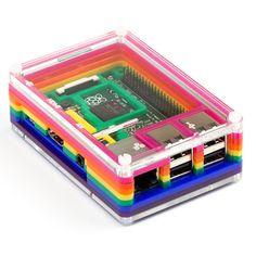 Raspberry Pi 2 with Pibow Case - Pimoroni