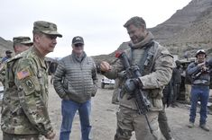 https://flic.kr/p/FDjKX7 | 12 Strong | WSMR Commander Brig. Gen. Eric Sanchez presented a Command Coin to  Lead Actor Chris Hemsworth during the filming that took place at WSMR, Jan. 13, 2017.
