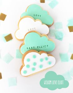 cloud cookies! Mint! www.lepetitbiscuit.nl
