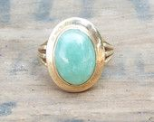 Antique anneau/or Ring/Jade Ring/victorien Ring/Edwardian anneau/Art Deco Ring/déclaration Ring/mariage Ring/bague de fiançailles/taille 7