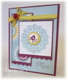 Four Seasons - Mojo Monday #244 by RaeInReno - Cards and Paper Crafts at Splitcoaststampers