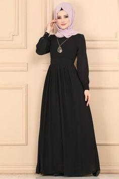 Modaselvim ELBİSE Kemerli Tesettür Elbise 3687-2MB205 Siyah Street Hijab Fashion, Fashion Outfits, Islamic Women's Clothing, Hijab Style Dress, Hijab Fashionista, Muslim Women Fashion, Skirt Outfits, Clothes For Women, Fashion Design