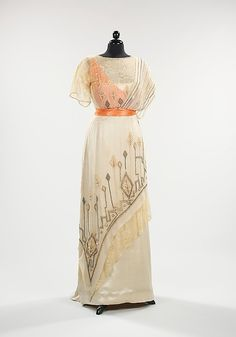 Evening Dress  1911-1913  The Metropolitan Museum of Art.  I like the touch of orange....other colours would work too.