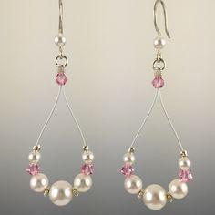 Swarovski Crystal & Sterling Silver Teardrop Earrings