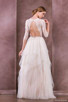 Divine Atelier 2015 #Wedding Dresses — Nostalgia #Bridal Collection | Wedding Inspirasi #weddings #weddingdress #weddinggown #keyhole #sleeves #pretty #lace