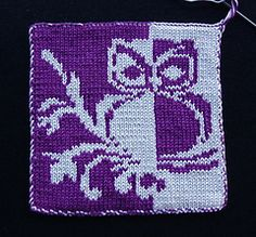 Owl Patterns, Cute Owl, Study Materials, Owls, Pot Holders, How To Apply, Blanket, Knitting, Crochet