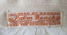 1930s Palm Beach linen suit Label by wearitsatvintage, via Flickr