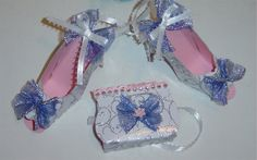 Another 1 of the 8 piece ornament gift set of paper shoes and purses available now at VMLDesignStudio.com
