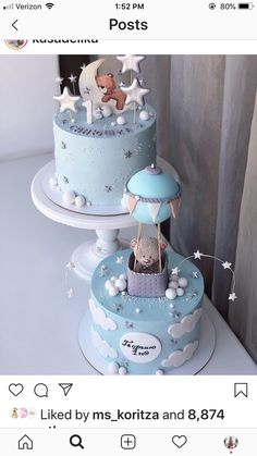 Baby Shower Cakes For Boys, Baby Boy Cakes, Baby Boy Shower, Baby Boy Birthday Cake, First Birthday Cakes, Gateau Baby Shower Garcon, Cake Decorating Designs, Christening, Ideas